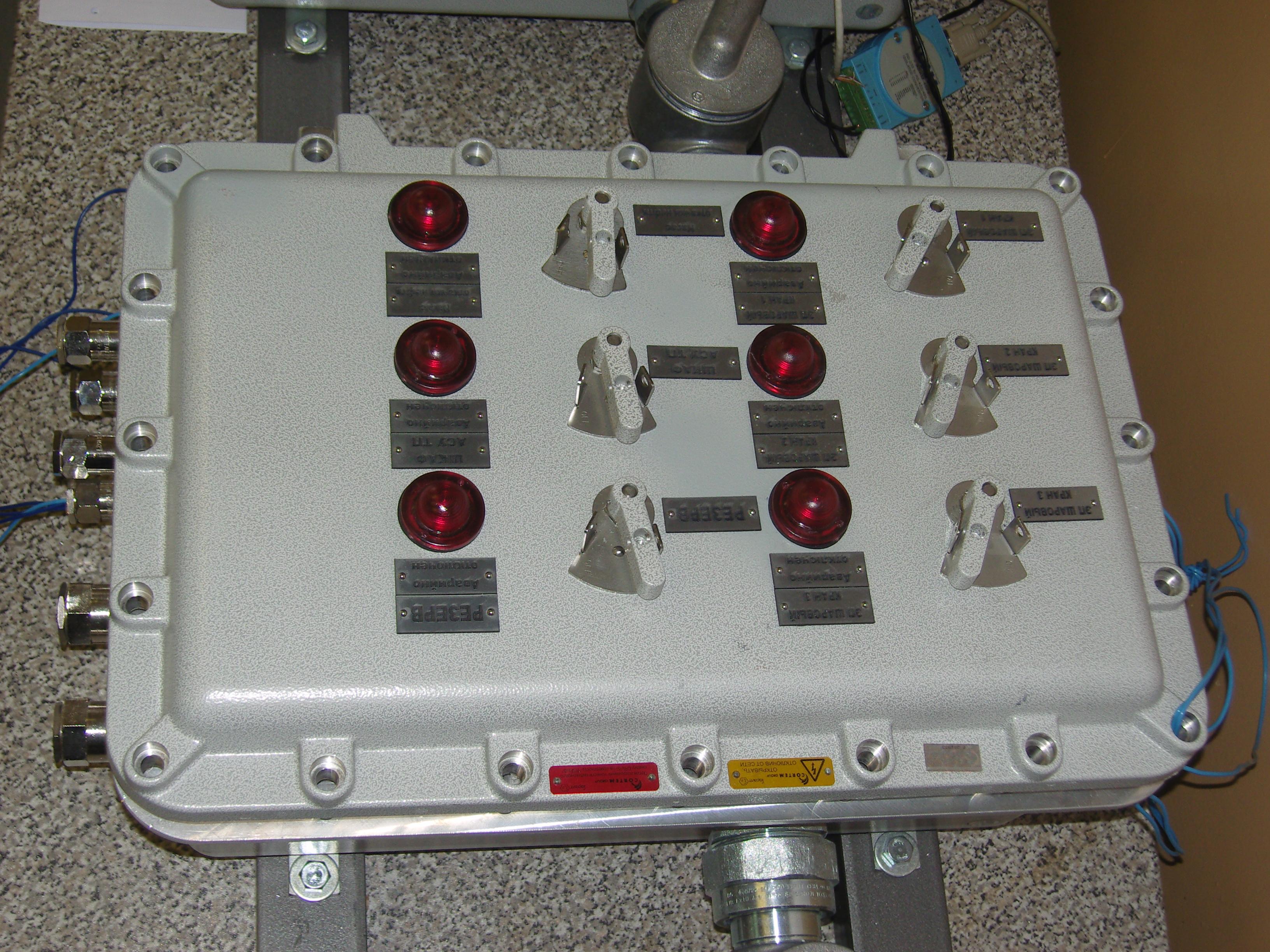 Другие специализированные щиты для распределения электроэнергии, управления и сигнализации